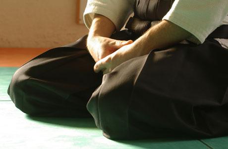 position seiza en aïkido